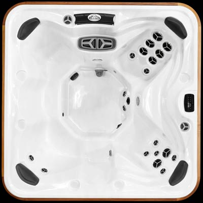 Top view of the Arctic Spas Yukon prestige hot tub